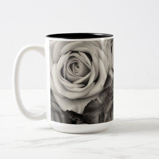 ROSES, Black and White Photo Coffee Mug