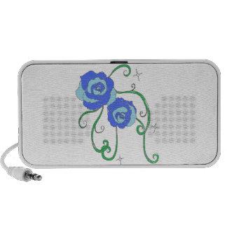 Roses bleus mini haut-parleur