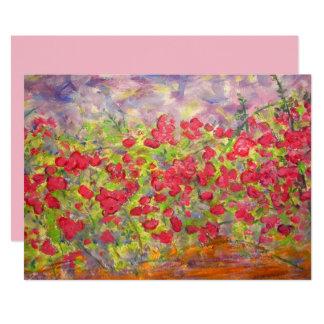 roses blooming card