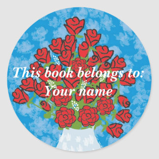 Roses Book label