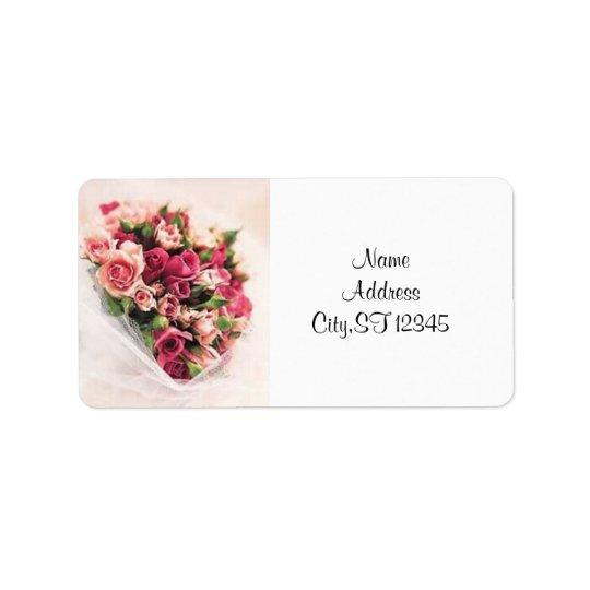 Roses Bouquet Label