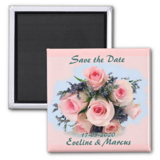 Roses bouquet Save the Date magnet