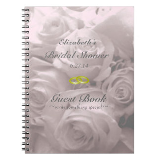 Roses-Bridal Shower Guest Book- Note Book