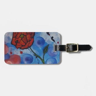 roses & bubbles luggage tag