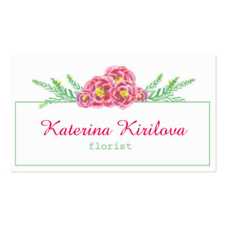 Roses Business Card