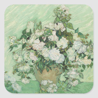 Roses by Van Gogh Square Sticker