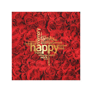 Roses Canvas30.48cm x 30.48cm, 3.81cm Canvas Print
