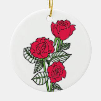 Roses Ceramic Ornament