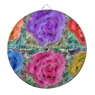 Roses Collage Dartboard