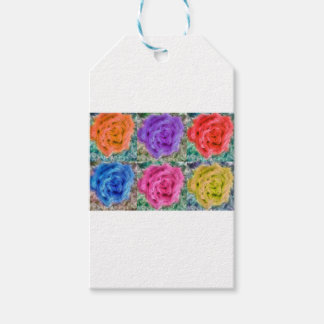 Roses Collage Gift Tags