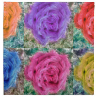 Roses Collage Napkin