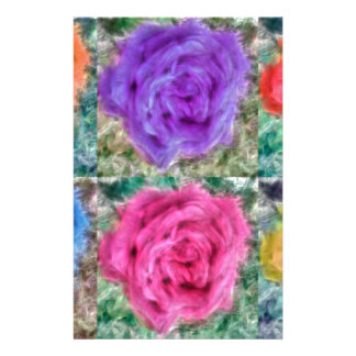 Roses Collage Stationery
