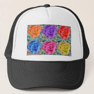 Roses Collage Trucker Hat