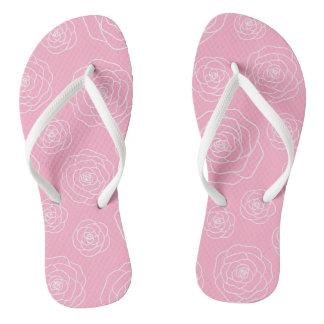Roses contour flip-flaps flip flops