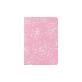 Roses contour Passport Holder