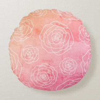 Roses Contour Round Pillow