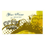 Roses, Crown, Swirls & Butterflies Business Cards