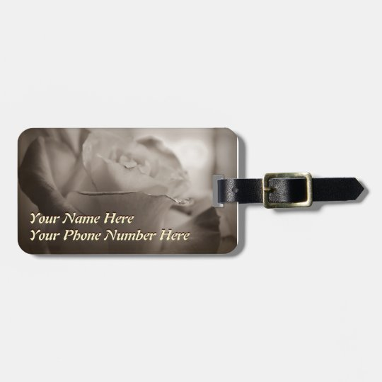 Roses Custom Luggage Tags