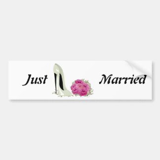 Roses de bouquet et cadeaux de stylet de mariage autocollant de voiture