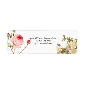 Roses de cru de PixDezines Redoute Étiquettes D'adresse Retour