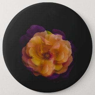 Roses (double exposure version) 6 inch round button