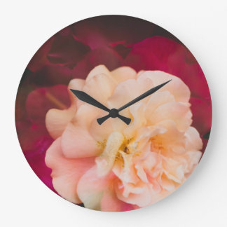 Roses (double exposure version) large clock
