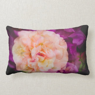 Roses (double exposure version) lumbar pillow
