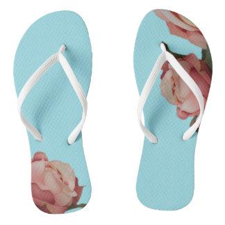 Roses Flip Flops