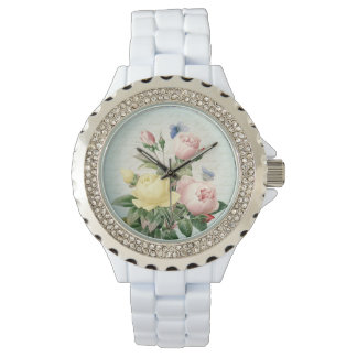Roses floral vintage feminine and girly watch