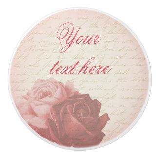 Roses floral vintage feminine ceramic knob
