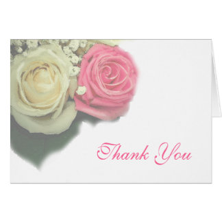 roses, floral, wedding, Thank You Card, template