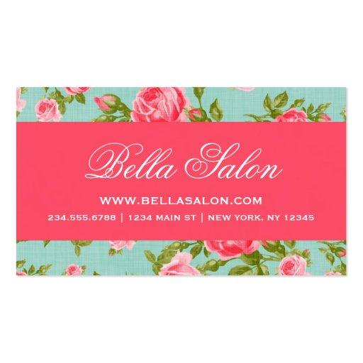 Roses floraux vintages élégants chics Girly Cartes De Visite Professionnelles