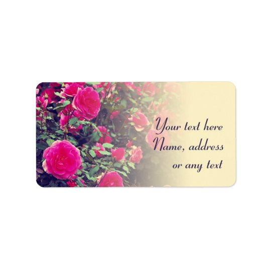 Roses Flowers Address or Gift Labels Personalized