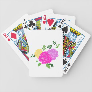 Roses flowers bicycle playing cards