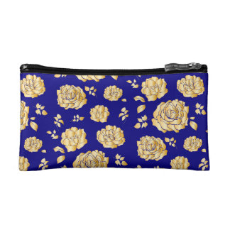 Roses flowers makeup bag