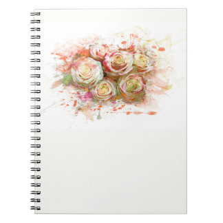 Roses, flowers, romantically, Watercolor Notebooks