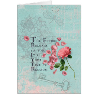 Roses Flowers with Wise Saying- Wisdom Card