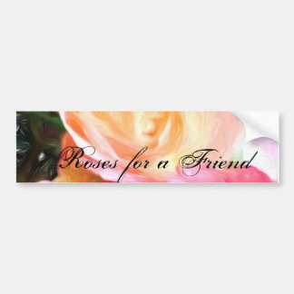 Roses for-a Friend Greeting Cards Bumper Sticker