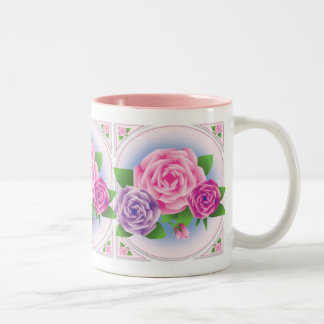 ROSES FOR EILEEN Two-Tone COFFEE MUG