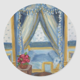 Roses for Josephine: Fontainebleau Chateau Classic Round Sticker