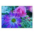 Roses for Mom: Happy Birthday mom! Card