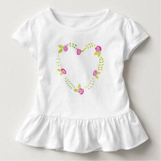 Roses Garland in a Heart Shape Toddler T-shirt
