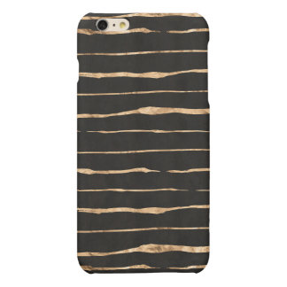 Roses-Gold Squiggly Lines/Stripes Pattern & Black