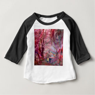 Roses grow with love. baby T-Shirt