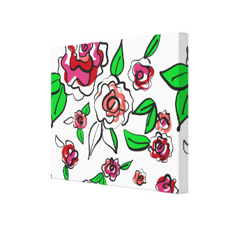 Roses hand drawn canvas print