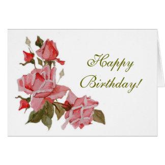 Roses, Happy Birthday! Card