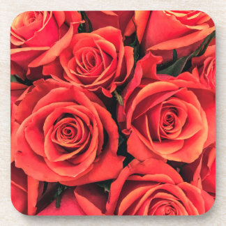Roses Hard Plastic Drink Coaster