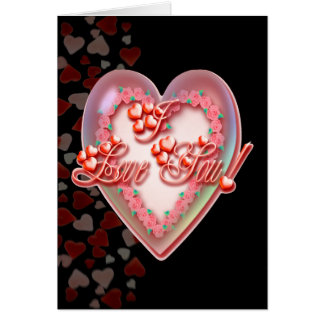 ROSES HEART I LOVE YOU BUBBLE by SHARON SHARPE Card