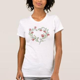 Roses Heart Ladies T Shirt