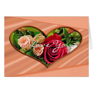 Roses & Hearts I Love You card- any occasion Card